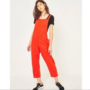 Urban Outfitters Linen Cropped Jumpsuit